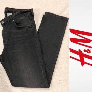 Black slim regular waist jeans H&M EUC size: 34